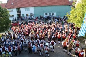 Jubiläumsfestzelt Loppenhausen Sternmarsch